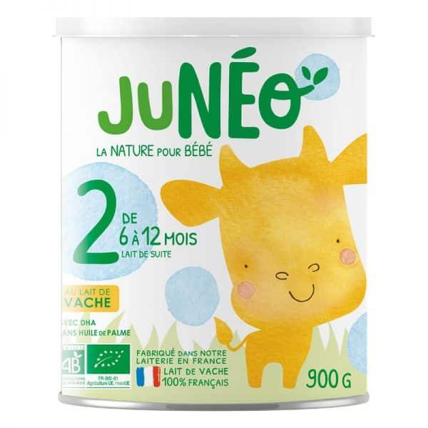 lait de vache juneo 2 ème age